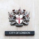 Le manteau des bras de la ville de Londres Photos libres de droits