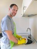 Le mantvättmaträtt i kök Royaltyfri Fotografi