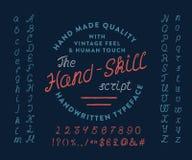 LE MANUSCRIT DE HAND-SKILL illustration libre de droits