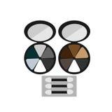 Le maquillage a coloré la brosse de fard à paupières Photographie stock