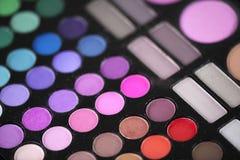 Le maquillage colore des nuances de mascara Images stock