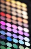 Le maquillage colore des nuances de mascara Photographie stock libre de droits
