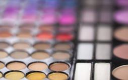 Le maquillage colore des nuances de mascara Images libres de droits