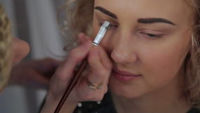 Le maquillage de professionnel de maquilleur banque de vidéos