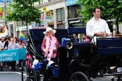Le maréchal grand du défilé 2010 de fierté de Dublin. Photo libre de droits