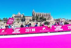 Le marathon des femmes dans Palma photo libre de droits