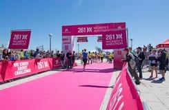 Le marathon des femmes dans Palma Image libre de droits
