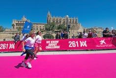 Le marathon des femmes dans Palma Images stock