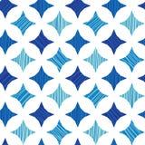 Le marbre bleu couvre de tuiles le fond sans couture de modèle Photographie stock