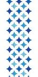 Le marbre bleu couvre de tuiles le modèle sans couture de frontière verticale Image stock