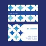 Le marbre bleu de vecteur couvre de tuiles le cadre horizontal de rayure Photos libres de droits