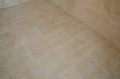Le marbre a couvert de tuiles le plancher Image libre de droits
