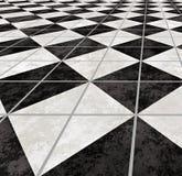 Le marbre a couvert de tuiles le plancher d'étage   Photo libre de droits