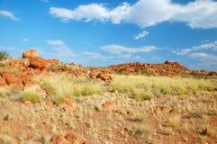 Le marbre du diable, australie à l'intérieur Photographie stock