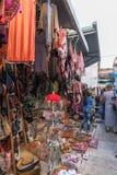 Le marché arabe de la rue de David dans la vieille ville de Jérusalem, Israël images libres de droits