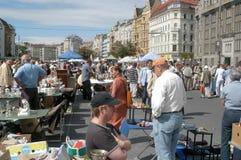 Le marché aux puces à Vienne Photos stock