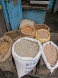 Le marché avec la nourriture reste dans Darjeeling, Inde Image libre de droits