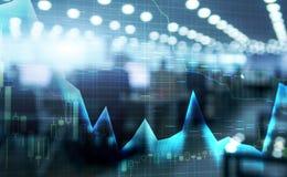 Le marché boursier cite le graphique Graphique de double exposition et de marché boursier ou de forex approprié au concept financ illustration libre de droits
