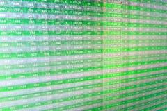 Le marché boursier cite le graphique Photographie stock