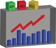 Le marché boursier, l'achat, la vente ou la prise illustration libre de droits