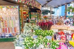 Le marché célèbre de fleur à Amsterdam Image libre de droits