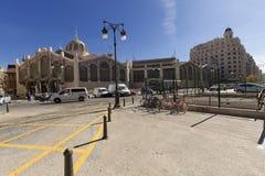 Le marché central de la ville de Valence Photos libres de droits