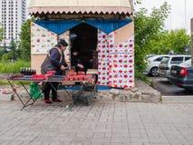 Le marché chez Izmailovsky Kremlin, Moscou photo stock