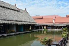 Le marché de flottement a appelé le ` d'Ayothaya de `, en Thaïlande Image libre de droits