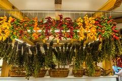 Le marché de fruits et légumes - Funchal photos libres de droits