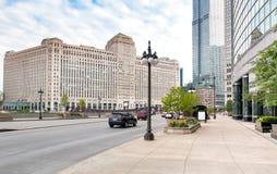 Le marché de marchandises, est un bâtiment commercial situé dans le centre ville de Chicago image libre de droits