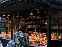 Le marché de Noël de Londres Photographie stock libre de droits
