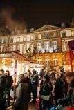 Le marché de Noël le plus ancien Europe - à Strasbourg, Alsace, Fran Photographie stock libre de droits
