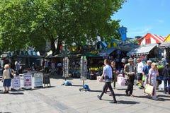Le marché de Norwich, promenade de Gentlemans, Norwich City centrent, la Norfolk, Angleterre images libres de droits