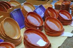 Le marché de système de poterie d'argile traditionnel handcraft photographie stock libre de droits