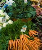 Le marché du fermier anglais Photo stock