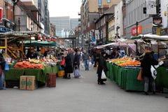 Le marché en plein air de Surrey au centre de ville de Croydon photographie stock libre de droits
