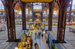 Le marché grand Hall, Hongrie de Budapest Photographie stock libre de droits