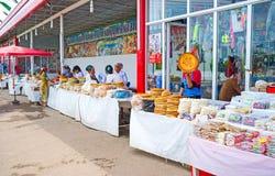 Le marché rustique de nourriture Photos stock