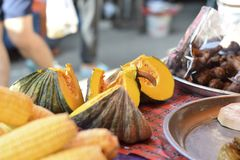 Le marché végétal en Thaïlande photographie stock