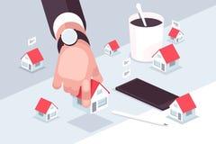 Le march? d'immobilier illustration libre de droits
