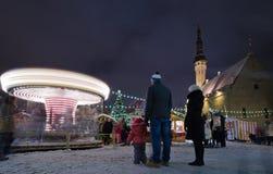 Le march? de No?l ? Tallinn Photo libre de droits