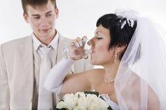 Le marié et la jeune mariée Images stock