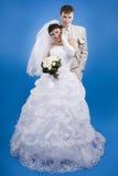 Le marié et la jeune mariée Images libres de droits