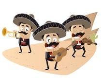 Le mariachi mexicain drôle se réunissent illustration libre de droits