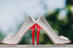 Le mariage chausse HD Image stock