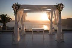 Le mariage de coucher du soleil changent Photographie stock libre de droits