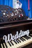 Le mariage de mot sur le piano Photo libre de droits