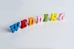 Le mariage de mot sur un fond blanc Photo stock