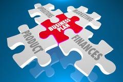 Le marketing de produit de plan d'action finance le puzzle Photos libres de droits