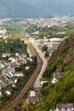 Le Marksburg près de Koblenz Allemagne. Images libres de droits